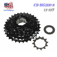 8-Speed Freewheel Bicycle Cassette Sprocket 12-32T for MTB Road Cycling Bike New