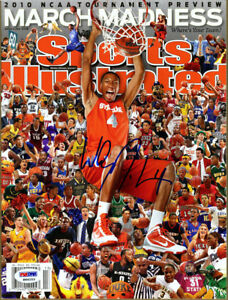 Wesley Johnson SIGNED Sports Illustrated Magazine Syracuse PSA/DNA AUTOGRAPHED