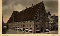 Nürnberg Bayern alte Ansichtskarte~1930 Partie an der Markthalle Straßenpartie