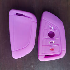 Purple 4 Button Silicone Skin Key Remote Cover Case Fob Case For BMW X3 5 Series