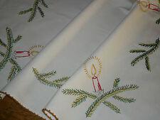 Alte Weihnachtsdecke Mitteldecke  77 cm / 68 cm Handarbeit  Shabby Chic Vintage