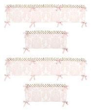 Pink & White Damask Gold Polka Dots Baby Girl 4Pc Crib Bumper Pad By Sweet Jojo