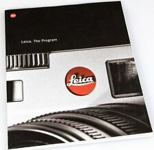 2001 LEICA CAMERA PROGRAM CATALOG BROCHURE -S1-M6-R8-R6.2-PRADOVIT-TRINOVID