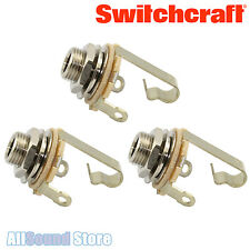 "NEW Lot of 3 Switchcraft #11 Mono T/S 1/4"" Input Output Guitar Bass Jack 3 PACK"