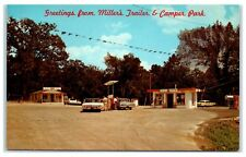 Greetings from Miller's Trailer & Camper Park near Route 66 Carthage MO Postcard