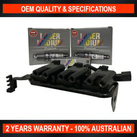 NGK Iridium Spark Plugs & Swan Ignition Coil Pack for Kia Sportage 2.7L V6 G6BA