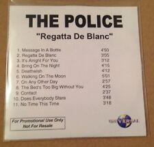 The Police - Regatta De Blanc 11 Track UK Acetate Promo Cd Ultra Rare Sting 2003