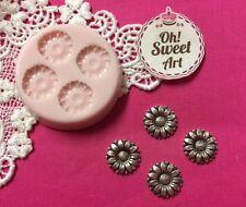 Tiny Sunflowers silicone mold fondant cake decorating cupcakes decorating FDA