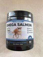 Omega 3 Alaskan Salmon Fish Oil Chews For Dogs DHA EPA Skin Coat Joints 90ct