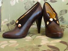 Naughty Monkey Brown Leather Shoe Boots Size 7 w/box 'Like New'