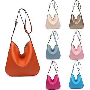New Womens Plain Style Tote Handbag Shoulder Bag With Removable Crossbody Bag