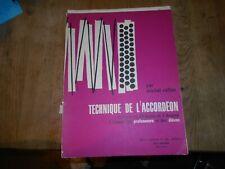RARE +++MICHEL RULLIER TECHNIQUE DE L'ACCORDEON  1964 ABE A 120€ ACH IMM FP COMP