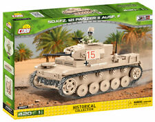 BRICKS COBI 2527 SMALL ARMY TANK Sd.Kfz.121 Panzer II Ausf 420 ELEMENT 1 FIGURES