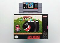 Kaizo Mario World 1 - Game / Case (Super Nintendo SNES) SMW Fan Made USA Seller