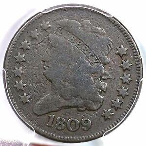 1809 C-1 R-4 PCGS F Detail Classic Head Half Cent Coin 1/2c