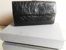 Mora Negra Congo Cuero Tamaño Completo wallet/purse + Caja-Original Y Excelente!!