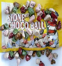 Stone choco ball mix coated chocolate chunks crunchy delicious sweet candy snack