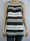 Crossroads Ladies Sleeveless Pleat Neck Top size 14 20 Colour Variagated Stripes