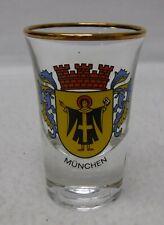 """BOCKLING Glass MUNCHEN Munich Germany Souvenir SHOT GLASS - 2-3/4"""""""