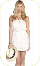 NEW SIZE SMALL BRODERIE ANGLAISE PLAYSUIT by ADORE COLOUR WHITE 100% COTTON BNWT