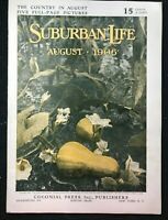 SUBURBAN LIFE Magazine - August 1906 - St. John's School Manlius NY / Great Ads