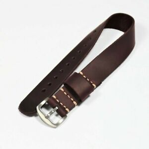 Burgundy leather watch strap 18-20-22-24mm, length 250-280mm. Mens watch band