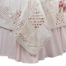 Nwop Simply Shabby Chic Pink Bed Skirt King Cottage