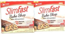 2 SlimFast Bake Shop Chocolatey Crispy Cookie Dough 5 Ct Meal Replacement Bars