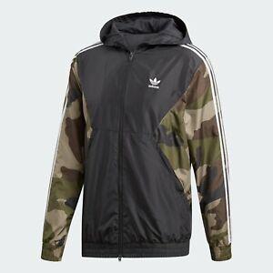 adidas Originals Camouflage Windbreaker Sizes L, XXL Black RRP £75 Brand New