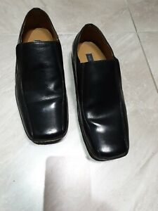Todd Barnes Mens  Black Leather Quality Loafer Shoes EU 43 Size UK 9 VGC