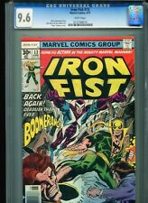 Iron Fist #13 CGC 9.6 (1977) Boomerang Chris Claremont John Byrne White Pages