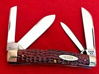 RARE Case XX RED bone LONG PULL near mint congress 6488 LP knife