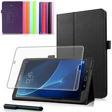9H Hartglas Folie+ Tasche f. Samsung Galaxy Tab A 10.1 A6 2016 T580/585 Case-2
