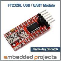 USB to Serial UART TTL Converter Adapter FT232RL Module Arduino