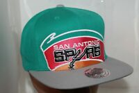 San Antonio Spurs Mitchell & Ness NBA Cropped XL Logo Snapback,Cap,Hat       NEW