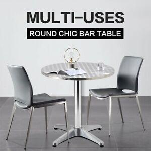 Garden Bar Table Adjustable Outdoor Kitchen Cafe Banquet Tables Aluminium Round