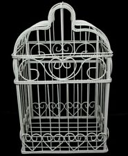 Large White Metal Bird Cage Card Holder Wedding Parties Centerpiece