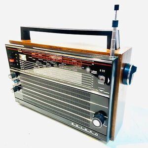 Vega Selena B212 Transistor Radio, 8 Band, 1975 Vintage, Made in USSR, V. Clean