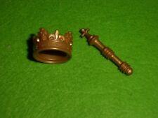 LOTE PLAYMOBIl, MEDIEVAL, ROMA, EGIPCIO, corona y cetro, couronne et sceptre