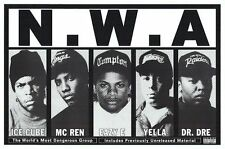 N.W.A. Poster 24 x 36 Rap Hip Hop Music Dr Dre Ice Cube Eazy E Mc Ren Print New