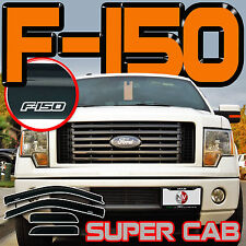 F150 Super Cab 2009-2014 Window Door Deflector Rain Guard Vent Sun Visors Shades