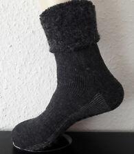 Herren ABS Stoppersocken Hüttensocken mit Umschlag Wolle und Alpaka grau 39-46
