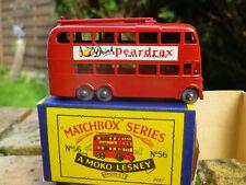 LESNEY MATCHBOX MOKO 56 TROLLEY BUS axe roue pincé NEUF boite d'origine B3 NEUVE