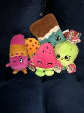 FIVE Shopkins Plush Bundle!!- New
