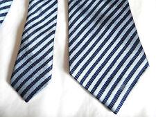 Louis Copeland (Washington Tremlett) 100% Seide dunkelblau/hellblau gestreift Tie