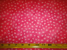 The Owl & the Pussycat Fabric Pink Tulip Flowers Cotton Fabric Avlyn BTY