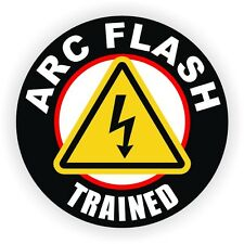 Arc Flash Trained Hard Hat Decal / Helmet Sticker Label Electrical Shock Hazard