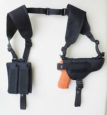 Shoulder Holster for GLOCK 17, 20, 21, 22 & 37 with TACTICAL LIGHT Dbl Mag Pch