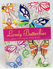 Oceanis Adult and Teen Coloring Book Lovely Butterflies Butterfly Insect Theme