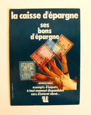 Autocollant CAISSE D'EPARGNE - Sticker collector  - Année 70 /80 Vintage